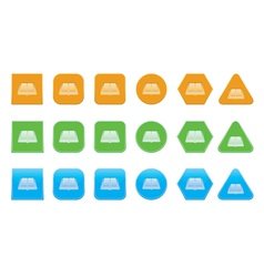 set of opened book icons vector image