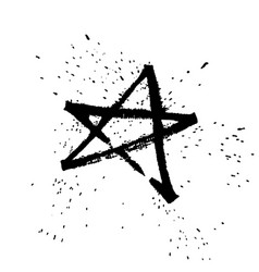 star rulling pen expressive calligraphy with vector image