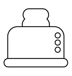 steal toaster icon outline style vector image