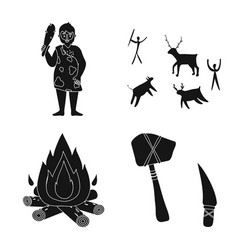 Survival and primeval icon vector