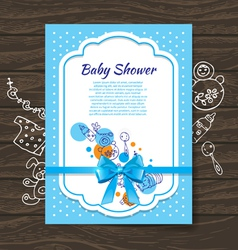 Sweet baby shower invitation vector