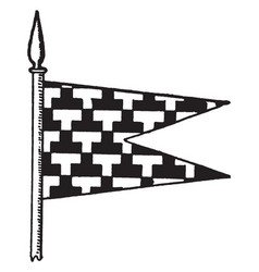 the pennon is a flag of great britain vintage vector image