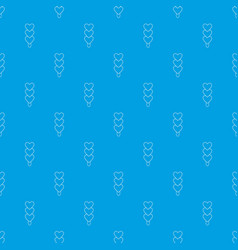 three hearts ice cream pattern seamless vector image