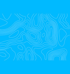 Topographic map of white lines on a blue vector