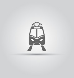 tram isolated icon vector image