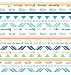 tribal colorful seamless repeat pattern vector image
