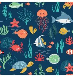 undersea life pattern vector image