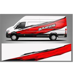 Van wrap design wrap vector