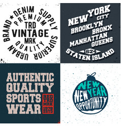vintage design print for t-shirt stamp tee vector image