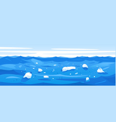 Water pollution plastic rubbish vector