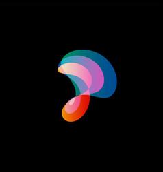 Wavy abstract logo smooth gradients vector