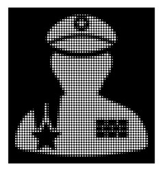 white halftone army general icon vector image