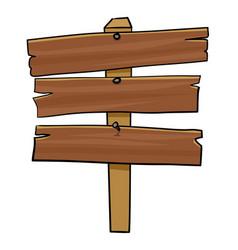 Wooden signpost vector