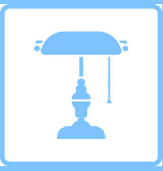 Writers lamp icon vector