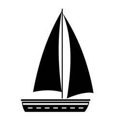 yacht travel icon simple black style vector image