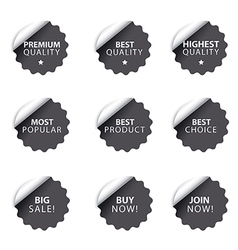 advertising badges and stickers vector image vector image