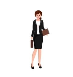 business woman working in office worker with file vector image vector image