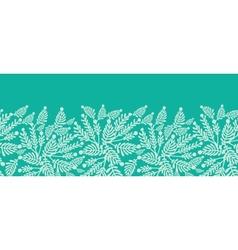 Emerald green plants horizontal seamless pattern vector image vector image