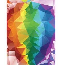 Rainbow polygonal background2 vector