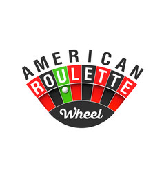 american roulette wheel sign vector image vector image