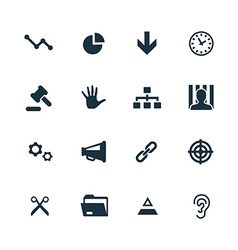crisis icons set vector image