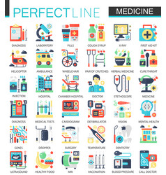 medical and healthcare complex flat icon vector image vector image