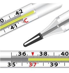 Medical glass mercury vector