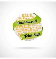 Modern sale badge vector