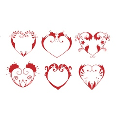 Ornate Hearts vector image vector image