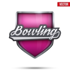 Premium symbol of Bowling label vector image vector image