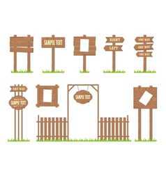 Wooden Sign Posts vector image