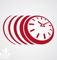 3d timer eps 8 clear Time runs fast vector image