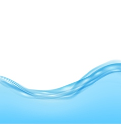 Blue water waves vector image