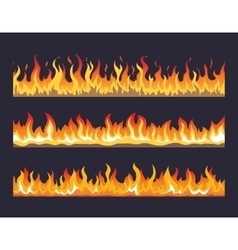 Fire flame seamless set vector image vector image