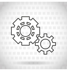 gears icon design vector image
