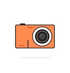 Photo camera icon isolated on white vector image
