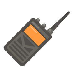 portable radio icon flat style vector image vector image