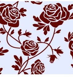 roses tile vector image vector image