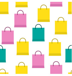 shopping bags seamless background vector image