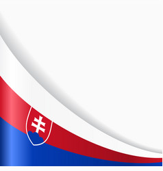 slovak flag background vector image vector image