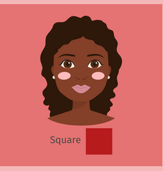 woman face type character vector image vector image
