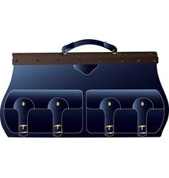 A blue bag vector
