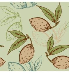 almond pattern vector image
