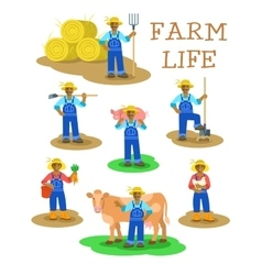 Black farmers men and women working on farm vector image vector image