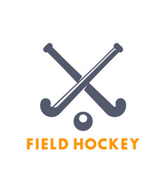 Field hockey icon logo elements over white vector