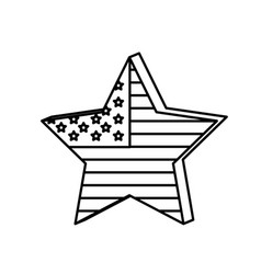figure star independece day flag icon vector image vector image