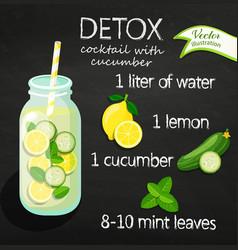 recipe detox cocktail vector image