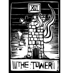Tower Tarot vector image vector image