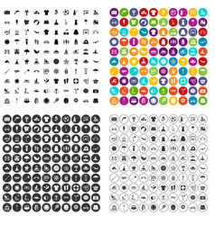 100 summer icons set variant vector image
