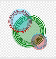 abstract circles of various colors on a vector image
